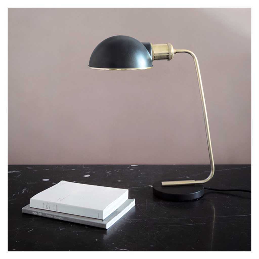 Collister table lamp black brass the conran shop