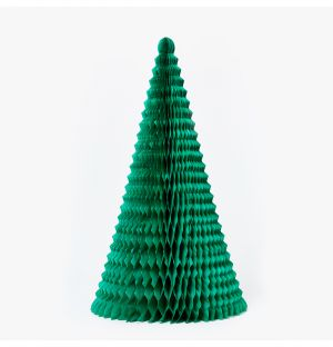 Large Paper Tree Christmas Decoration in Green