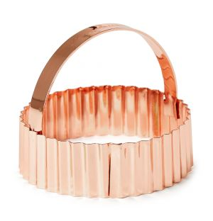 Fluted Cookie Cutter Copper