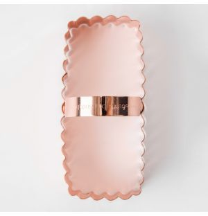 Fluted Shortbread Cookie Cutter Copper
