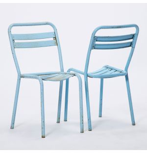 Vintage Tolix Chair in Blue