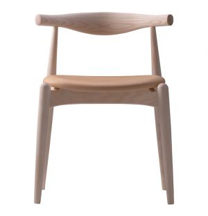 CH20 Elbow Chair Soaped Oak & Leather