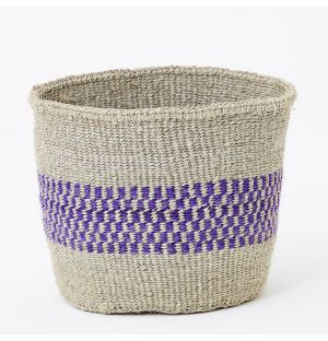 Medium Unique Fine Weave Basket in Natural