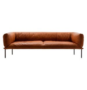Rondo Sofa Tan Leather 3-Seater
