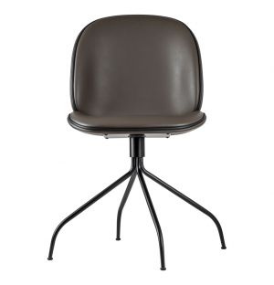 Beetle Swivel Chair Sierra Cappuccino Leather