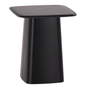 Leather Side Table Chocolate Small