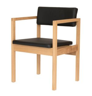 West Street Chair Leather & Oak