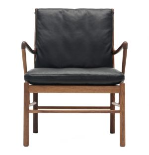 OW149 Colonial Armchair Walnut & Leather