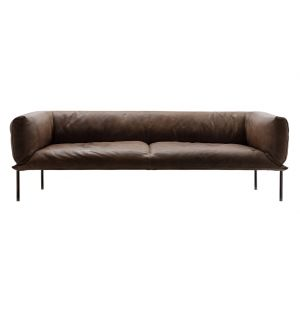 Rondo Sofa Grey Brown Leather