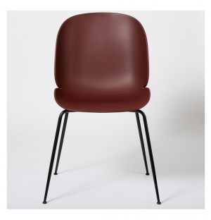 Beetle Dining Chair Un-Upholstered & Black Legs