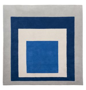 'Homage to the Square: Blue, White, Grey' Rug