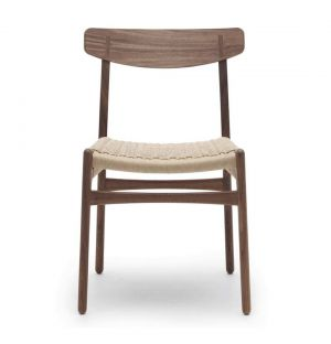 CH23 Side Chair in Oiled Walnut & Natural Paper Cord