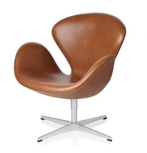 Swan Chair in Grace Leather