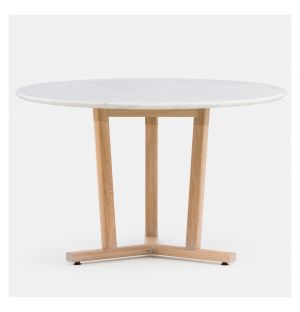 Round Shaker Dining Table in White Oak