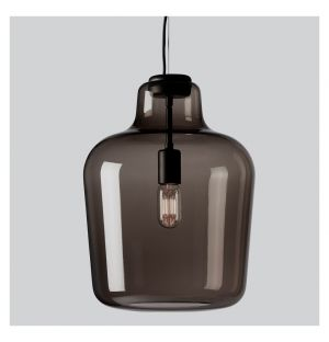 Say My Name Pendant Light Smoked Grey Glossy