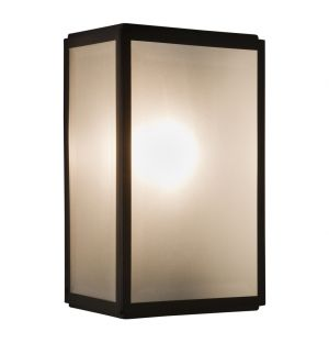 Homefield 160 Exterior Wall Light Frosted Glass