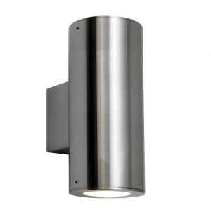 Detroit Exterior Wall Light Double Steel