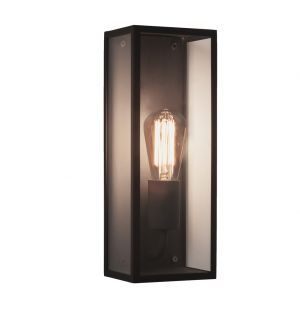 Messina 130 Exterior Wall Light Clear Glass