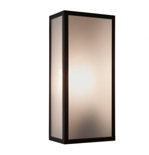 Messina 160 Exterior Wall Light Frosted Glass