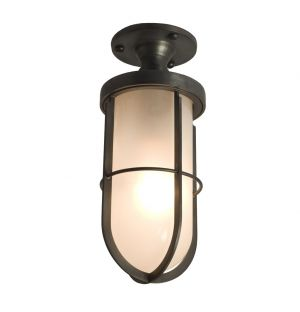 Weatherproof Ship's Ceiling Light Frosted Glass