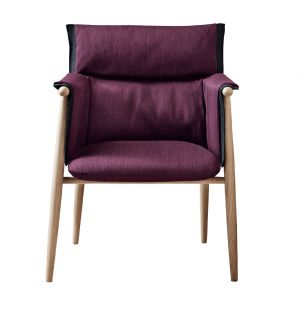 E005 Embrace Dining Chair Soaped Oak & Fabric