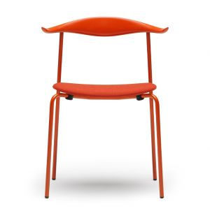 CH88P Chair Orange Red Base, Coloured Beech Back & Fabric Seat