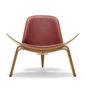 CH07 Shell Chair Oiled Oak & Thor Leather