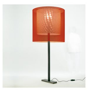 Moare Floor Light Black Base Large Red Extra Large Red Shades