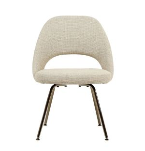 Saarinen Conference Chair in Grey West Fabric & Black Chrome