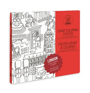 Giant London Colouring Poster
