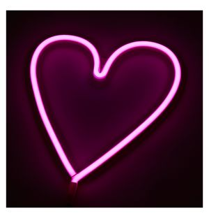 Neon Heart Light Pink