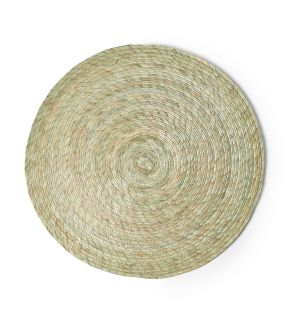 Round Placemat Agave Blue 38cm