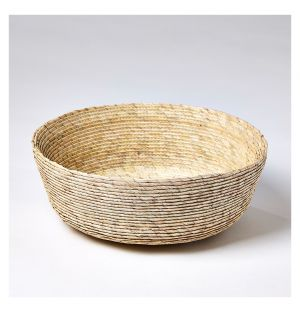 Small Round Basket in Natural