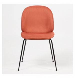 Beetle Dining Chair Jabana Upholstery & Black Legs