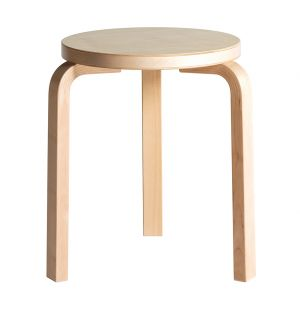 Stool 60 Natural Lacquered Birch