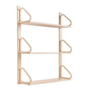 112B Wall Shelving in Natural Lacquered Birch