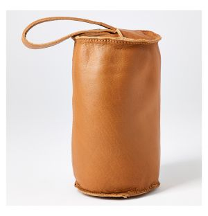 Leather Camou Doorstop Camel