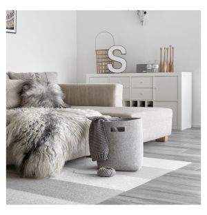 Paper Basket Large Light Grey
