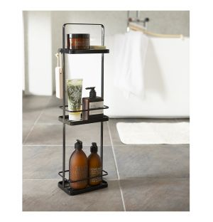 Tower Bath Rack Black