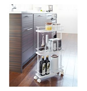 Tower Slim Storage Cart White