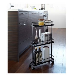 Tower Slim Storage Cart Black