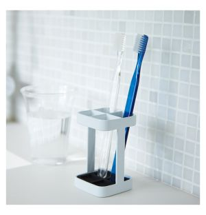 Tower Toothbrush Stand White Square