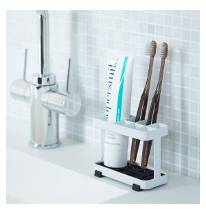 Tower Toothbrush Stand White Rectangular