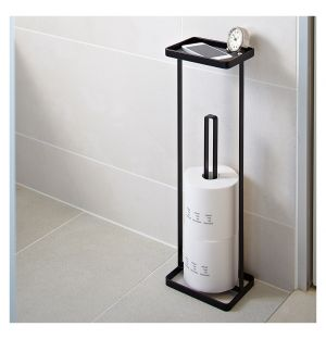 Tower Toilet Paper Stand Black