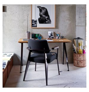 Fauteuil Direction Armchair Chocolate Base