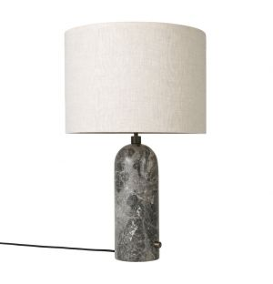 Gravity Table Lamp Grey Marble & Canvas