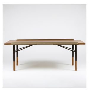 Table Bench Walnut & Brass Small