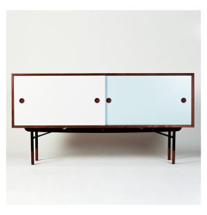 Sideboard Walnut & Blue