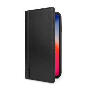 Journal iPhone X Case Black Leather