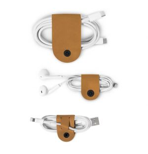 CableSnap Cable Organisers Cognac Leather